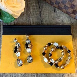 Jewelry - ✨Stunning Statement Earrings & Bracelet Set ✨